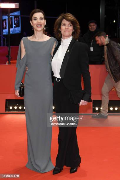 Irmena Chichikova and Laura Benson attend the 'Touch Me Not' premiere during the 68th Berlinale International Film Festival Berlin at Berlinale...