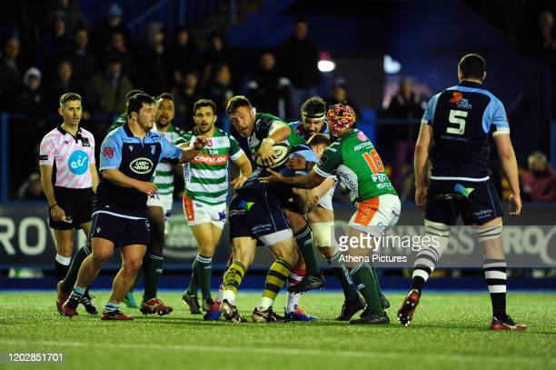 Irne Herbst of Benetton Treviso in action during the Guinness Pro14 Round 12 match between the Cardiff Blues and Benetton Rugby at Cardiff Arms Park...