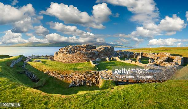Iron age fortified village ruins, Broch of Gurness, Orkney, Scotland, United Kingdom