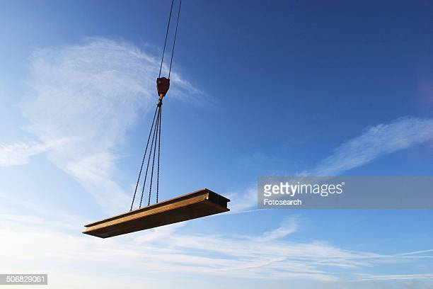 Iron beam being lifted