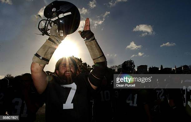 Iron Blacks No7 Ian Boyd thanks the fans after the American Football match between the New Zealand Iron Blacks and Australia played at Eden Park...