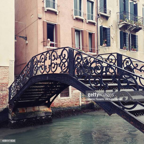Iron bridge in Venice, Italy