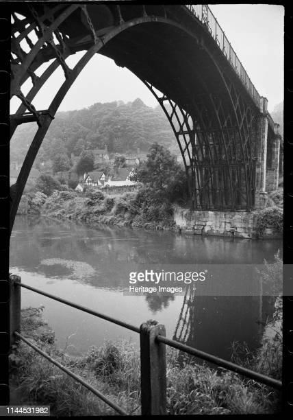 Iron Bridge Ironbridge Shropshire circa 1955c1980 A general view of the Iron Bridge a singlespan arched bridge over the River Severn built in 1778...