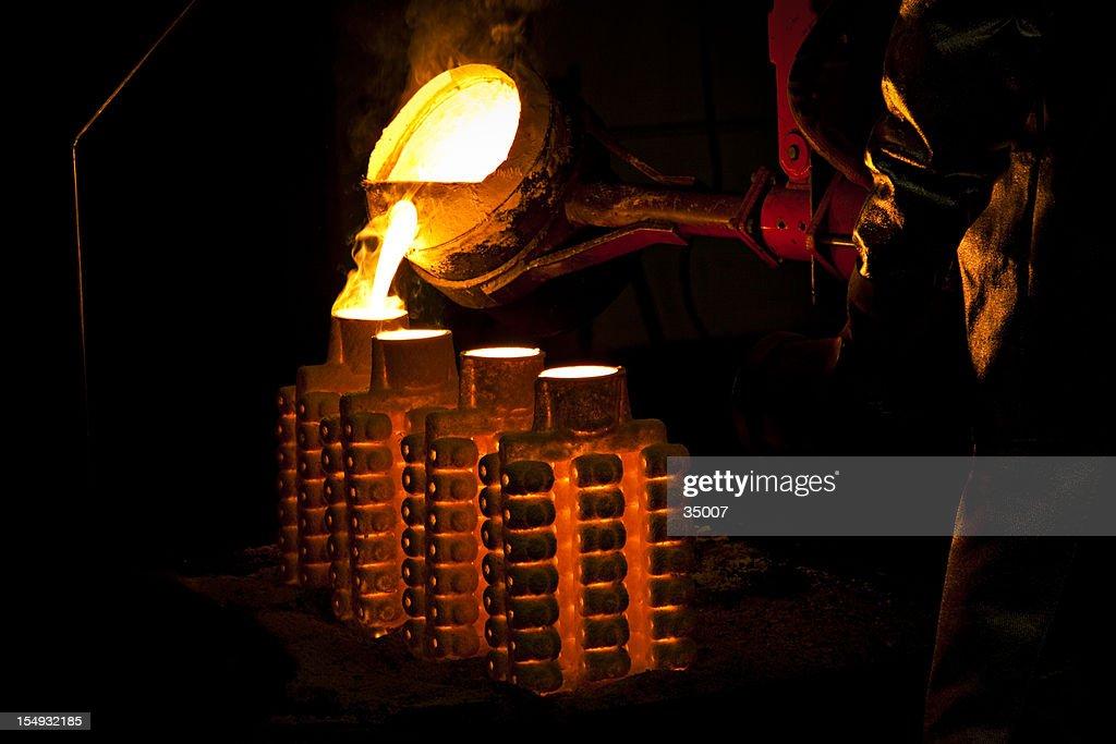 iron casting : Stock Photo