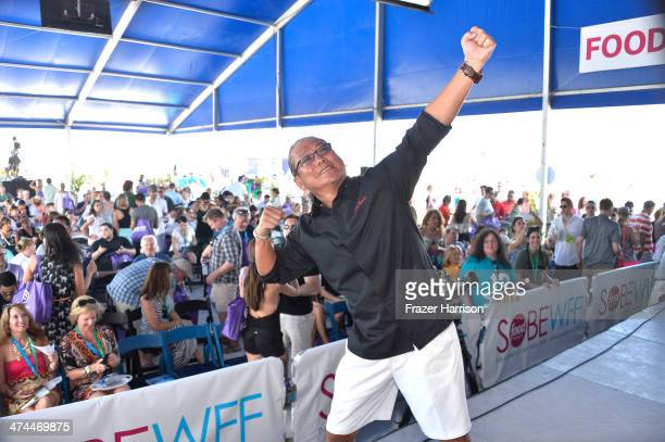 Iron Chef Masaharu Morimoto attends KitchenAid® Culinary Demonstrations during the Food Network South Beach Wine Food Festival at Grand Tasting...