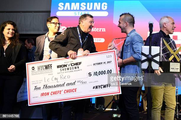 Iron Chefs' Choice winner Antoine Westermann of Le Coq Rico attends the Food Network Cooking Channel New York City Wine Food Festival presented by...