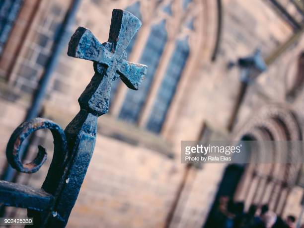 Iron Cross at the gate of the church