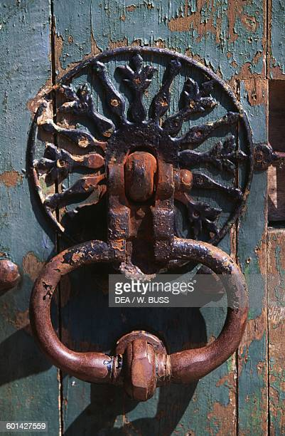 Iron door knocker of Chateau de Sable 17151750 technical centre of the National Library of France Pays de la Loire France 18th century
