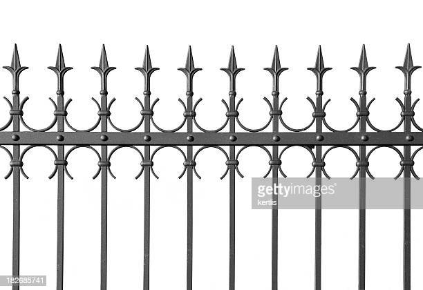 iron fence - hek stockfoto's en -beelden