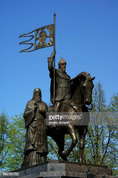 iron horses. prince vladimir and prelate fedor - fedor stock pictures, royalty-free photos & images