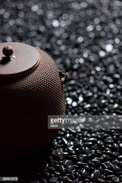 Iron kettle, close-up