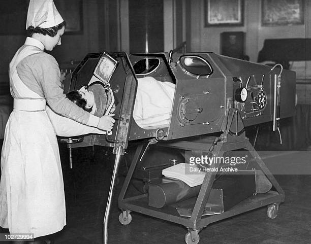 'Iron lung' 22 November 1938 Photograph by Harold Tomlin a staff photographer on the 'Daily Herald' newspaper The original 1938 caption reads 'The...