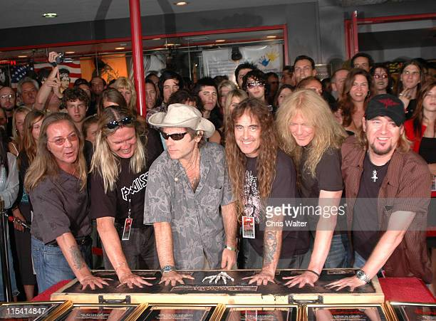 Iron Maiden Dave Murray Nicko McBrain Bruce Dickinson Steve Harris Janick Gers and Adrian Smith