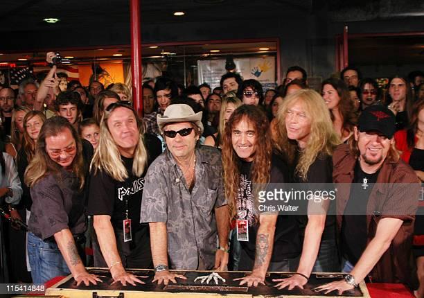 Iron Maiden Dave Murray Nicko McBrain Bruce Dickinson Steve Harris Janick Gers and Adrian Smith