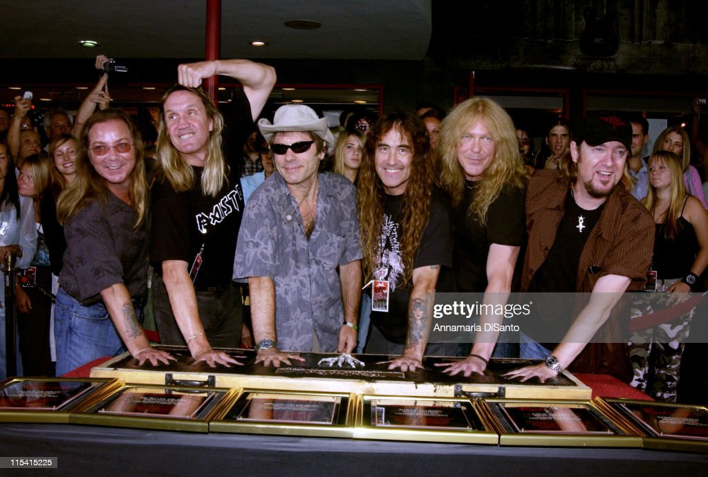 Iron Maiden inducted into Hollywood Rockwalk