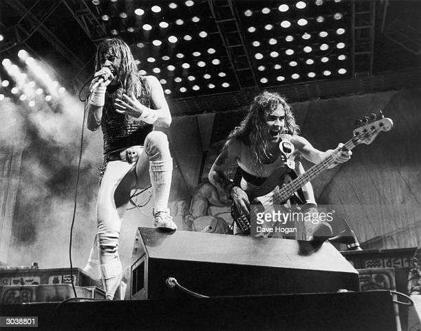 Iron Maiden in concert at the Rio rock festival 24th January 1985