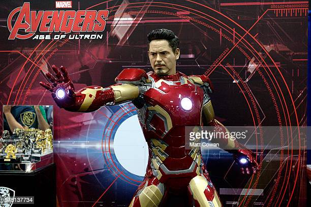 Iron Man armor displayed at ComicCon International 2016 preview night on July 20 2016 in San Diego California