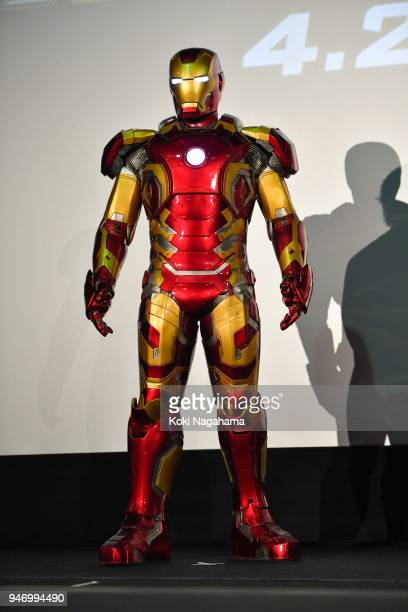 Iron Man attends the fan event for 'Avengers Infinity War' Tokyo premiere at the TOHO Cinemas Hibiya on April 16 2018 in Tokyo Japan