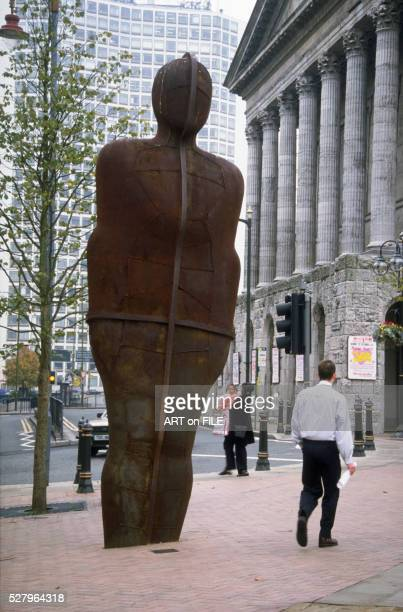 iron man by antony gormley - antony gormley stock pictures, royalty-free photos & images