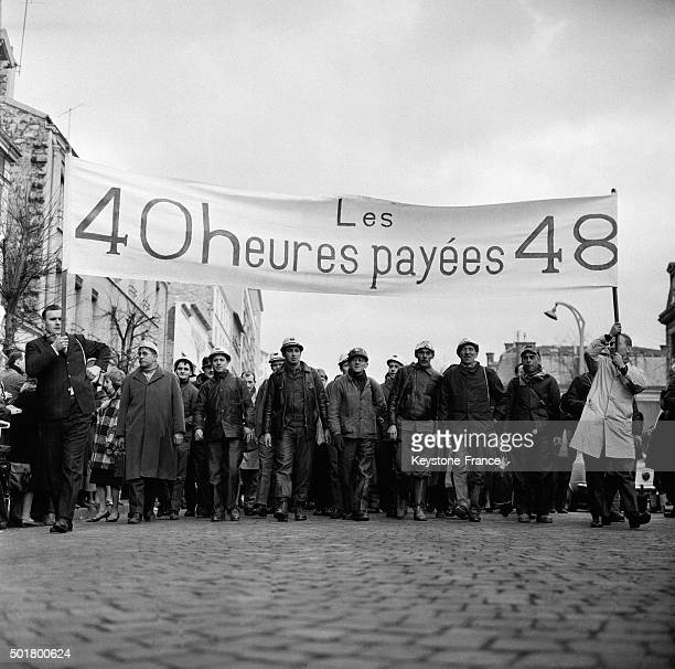 Iron Miners From Lorraine Eastern France Took Part In A March To Paris And After Having Left The Small City Of Piennes At 630 am They Reached Paris...