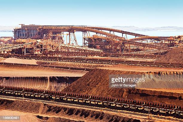 Iron ore at Dampier port. Western Australia
