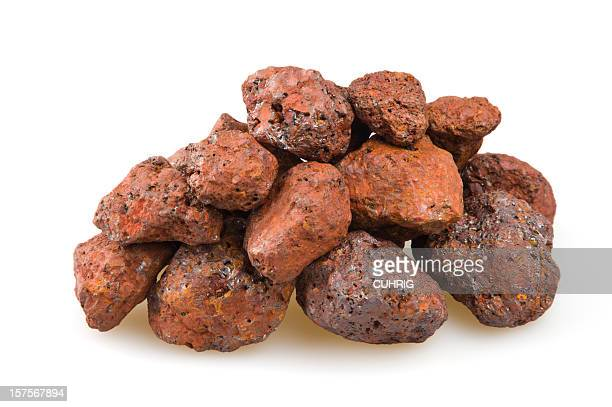 iron ore heap - iron ore stock photos and pictures
