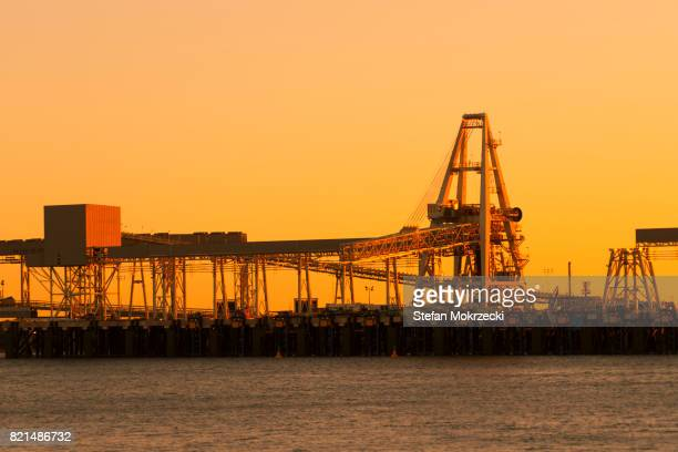 Iron Ore Loading Machinery At Port Hedland, Australia