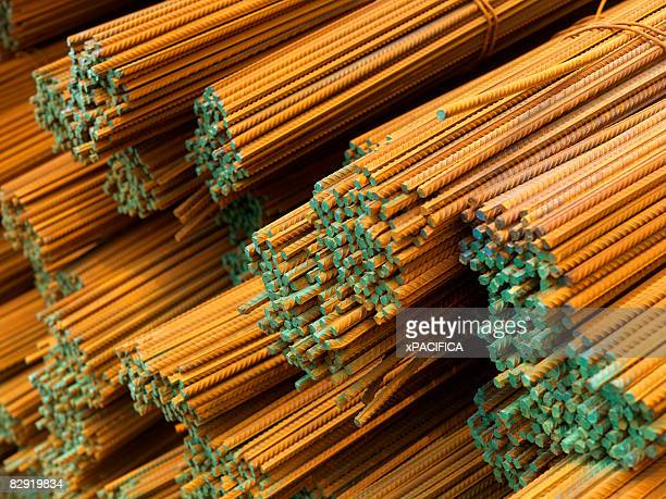 Iron rods used for construction.