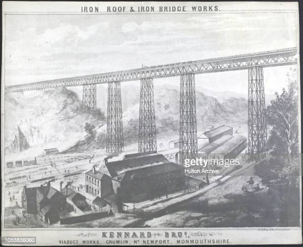 Iron Roof And Iron Bridge Works The Kennard Bros viaduct works at Crumlin near Newport Monmouthshire Wales