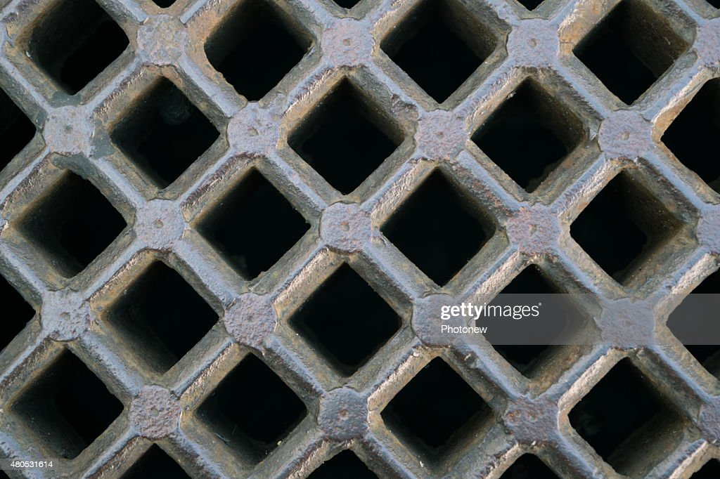 iron sewer grate background : Stockfoto