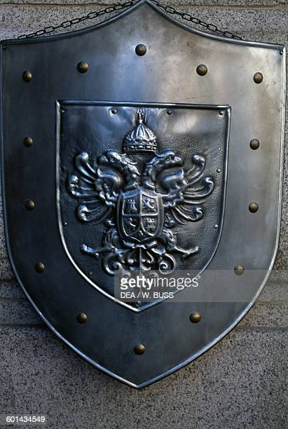 Iron shield with the symbol of the city of Toledo Castile Spain