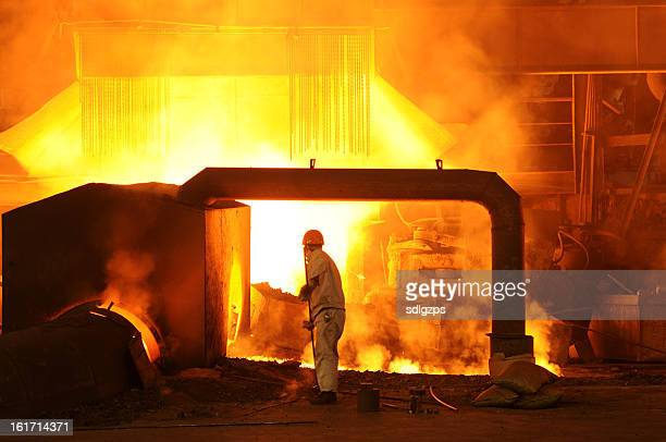 iron worker - steelmaking stock photos and pictures