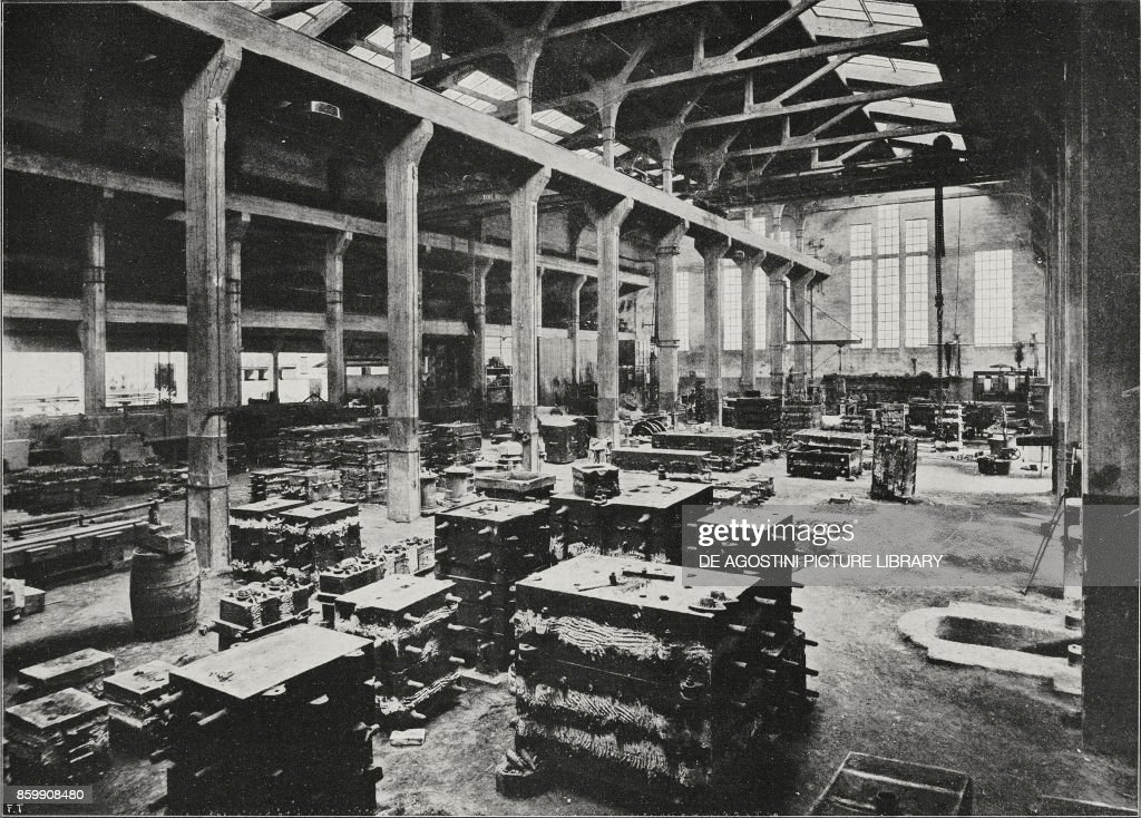 Iron-foundry, Cerpelli factory, manufacturer of centrifugal pumps
