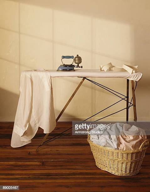 Ironing board and laundry