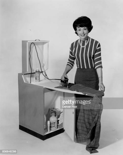 Ironing goes faster if everything is at your finger tips The ironing center shown here with actress Francine York has a place for everything The...