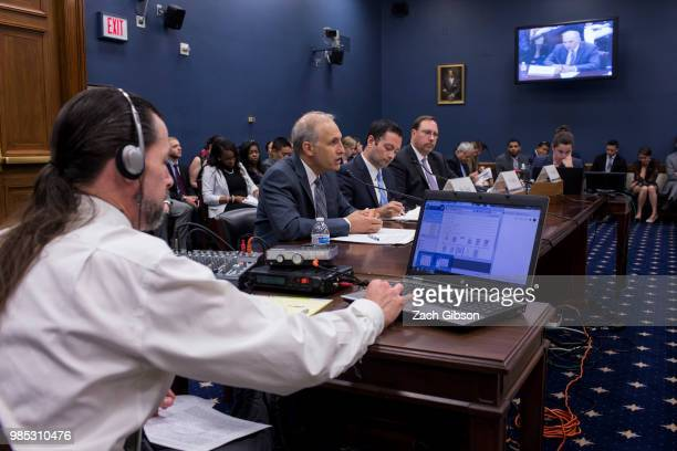 IronNet Cybersecurity President Matthew Olsen testifies during a House Small Business Committee hearing on President Donald Trump's ban of Chinese...