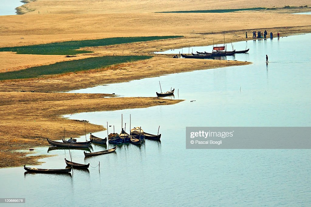 Irrawaddy banks, Bagan, Myanmar : Stock Photo