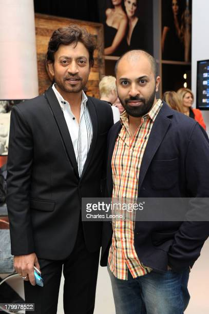 Irrfan Khan and Ritesh Batra at Guess Portrait Studio on Day 3 during the 2013 Toronto International Film Festival at Bell Lightbox on September 7...