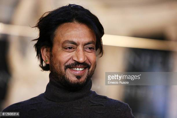 Irrfan Khan attends a photocall for 'Inferno' at Palazzo Vecchio on October 6 2016 in Florence Italy