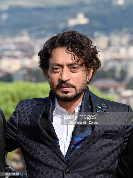 Irrfan Khan attends a photocall for 'Inferno' on October 7 2016 in Florence Italy