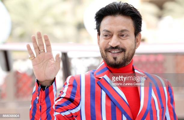 Irrfan Khan attends a photocall on day three of the 14th annual Dubai International Film Festival held at the Madinat Jumeriah Complex on December 8...