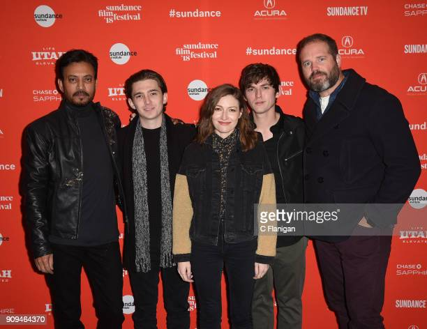 Irrfan Khan Austin Abrams Kelly Macdonald Bubba Weiler and David Denman attend the 'Puzzle' Premiere at Eccles Center Theatre during the 2018...