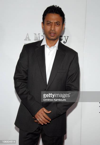 Irrfan Khan during A Mighty Heart New York City Premiere Arrivals at Ziegfeld Theater in New York City New York United States