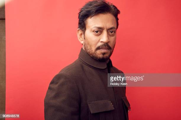 Irrfan Khan from the film 'Puzzle' poses for a portrait in the YouTube x Getty Images Portrait Studio at 2018 Sundance Film Festival on January 22...