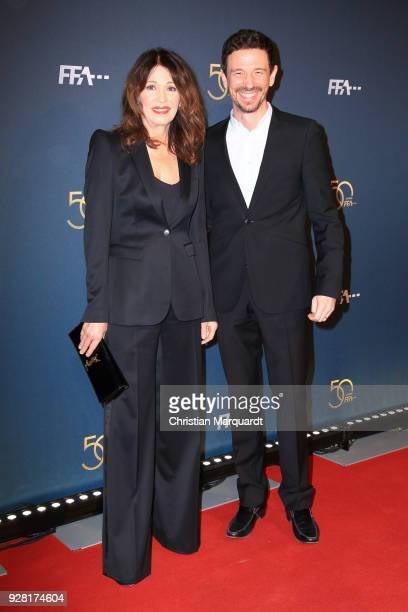 Irs Berben and Oliver Berben attend the 50th anniversary celebration of FFA at Pierre Boulez Saal on March 6 2018 in Berlin Germany