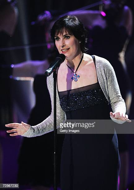 Irsih singer Enya performs on stage during the 2006 World Music Awards at Earls Court on November 15 2006 in London
