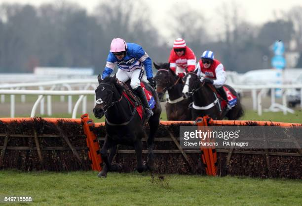 Irtish Saint ridden by Ruby Walsh wins the Racing UK Subscribe For Cheltenham Adonis Juvenile Hurdle during the Racing Plus Chase Day at Kempton Park...