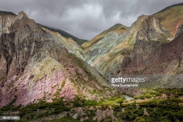 stone mountains in the village of iruya, northern argentina - サルタ州 ストックフォトと画像