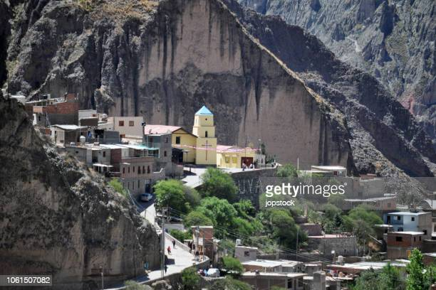 iruya town in salta province, argentina - salta argentina stock photos and pictures