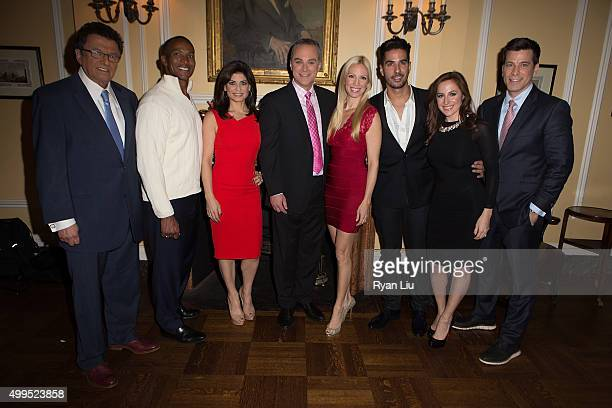 Irv Gikofsky Mike Woods Tamsen Fadal Scott Stanford Liza Huber Javier Gomez Teresa Priolo and Steve Lacy attend the 6th Annual UCP Of NYC Santa...